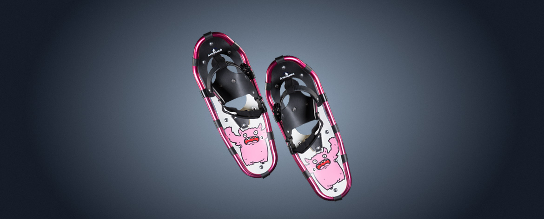 sasquatch-boy-girl-snowshoes-pink